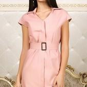 Стильное женское льняное платье