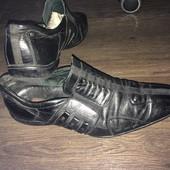 Кожаные туфли Made Italy  на свадьбу и выпускной размер 40