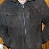 Стильная фирменная брендовая кожаная замша натуральная курточка  Westhill Island.л .
