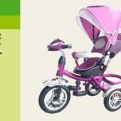 Велосипед 3-х колес TR016   складной козырек,поворт сидения,надувные колеса 12'' и 10''