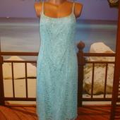 Платье кружевное\ажурное, вышивка бисером р.10-12 Precis Petite