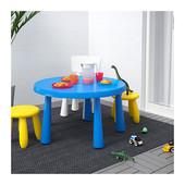 Столик детский синий маммут ИКЕА дитячий столик синій