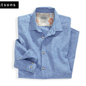 Рубашка лен-хлопок длинный рукав Watsons Германия, L (41/42)