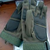 Тактические Новые!! мужские перчатки Олива. спорт, рыбалка