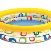 Детский надувной бассейн Веселая геометрия 58449