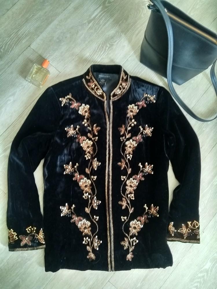 Пиджак бархатный р.40 фото №1