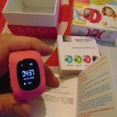 Фирменние  умные часы с GPS трекером Q50...оригинал, цвет розовий,срочно