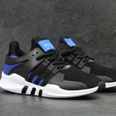 Кроссовки сетка Adidas Equipment  ADV/91-17 black/blue