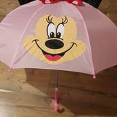 Детский зонт Минни с 3Д ушками и бантом в наличии.