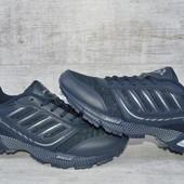 Мужские кожаные кроссовки Bonа,два цвета 662W/F