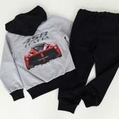 Распродажа Детский спортивный костюм Ferrari серый, 140 см