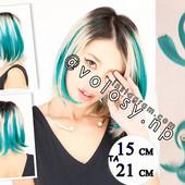 Цветные пряди бирюза мелкие канекалоны на заколках для волос трессы