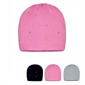 Деми шапочка для девочки со стразами. р 80-92