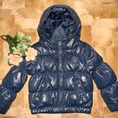 деми куртка-пуховик Benetton Италия 1-1,5 года холодная осень-весна в идеальном состоянии