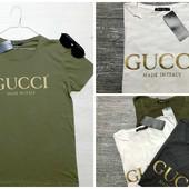 Футболки мужские Gucci.Турция,  хлопок 100%