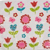Антискользящий Коврик для ванны Lindo Ln-8667 Цветочки на присосках 70х40 см