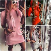 Яркое платье-худи Doratti 2 с атласными лентами