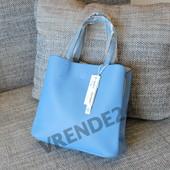 #16553 Gernas Blue Женская плотная сумка, внутри три отделения!