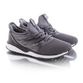 Стильные удобные мужские кроссовки серого цвета