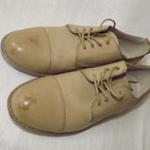 Туфли браги бежевые шнуровка Casual Bygemo 26 cм стелька