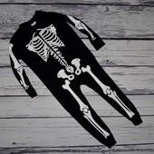 4 - 6 лет Фирменный красивый человечек слип пижама ромпер мальчику Скелет