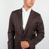 Пиджак мужской с контрастными вставками Коричневый