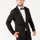Пиджак мужской, стильный, на одной пуговице Черный