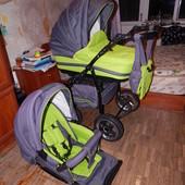 Яркая! Adamex Mars, 2в1, коляска сделана с умом!