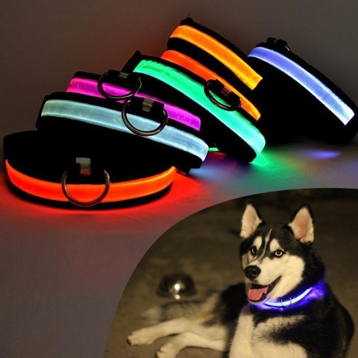 Светодиодный LED ошейник Usb с подсветкой фото №1