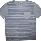 Мужская футболка серая в узорчик мягкая Asos XL L