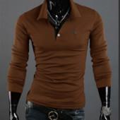 Мягкий и приятный свитшот мужской, кофта коричневый цвет M-XXXL код 41