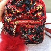 Рюкзачок для девочки с паетками.2 цвета