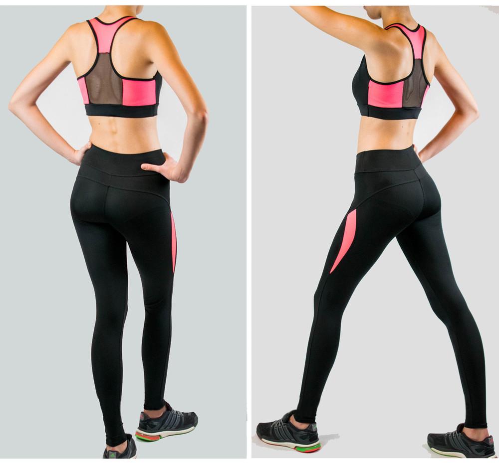 Комплект костюм 2 ка топ + лосины легинсы для зумбы фитнеса зала йоги  фото №1