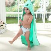 Полотенце уголок для купания, простынь детская
