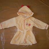 2-3 года, р. 92-98 см, теплый махровый халат Disney