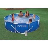 Бассейн каркасный Intex 28202 + фильтрующий насос. 305*76см