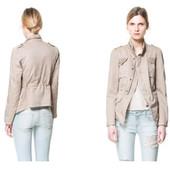 куртка облегченная стильная Zara р.M
