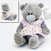 Плюшевый мишка Тедди, мягкая игрушка teddy 17см, в платье