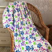 Детский плед одеяло Совы