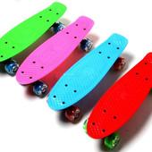 Скейт Penny for kids для детей до 4 лет. Светящиеся колеса