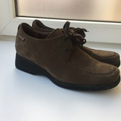 40р 26см Mefisto кожаные туфли полуботинки нубук