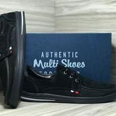 Мужские мокасины нубук с перфорацией Multi-Shoes