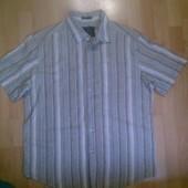Фирменная рубашка хлопок+лен XL