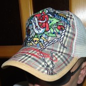 Брендовая стильная кепка бейсболка Ed Hardy (Эд Харди).м-л-хл .