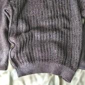 Новый оверсайз свитерок с металлической нитью topshop, S-M
