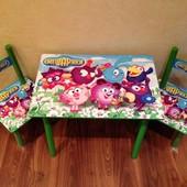Детский стол+2 стульчика!!