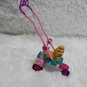 Коляска и питомец собака Barbie.