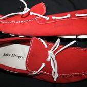 41 разм. Яркие мокасины Jack Morgan ортопедические. замша натуральная.   Португалия Длина по внутрен