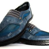 Мужские летние туфли на резинку - мокасины (ЮЛ-20с)