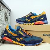 Летние кроссовки Reebok, 3 цвета, сетка-натур замша
